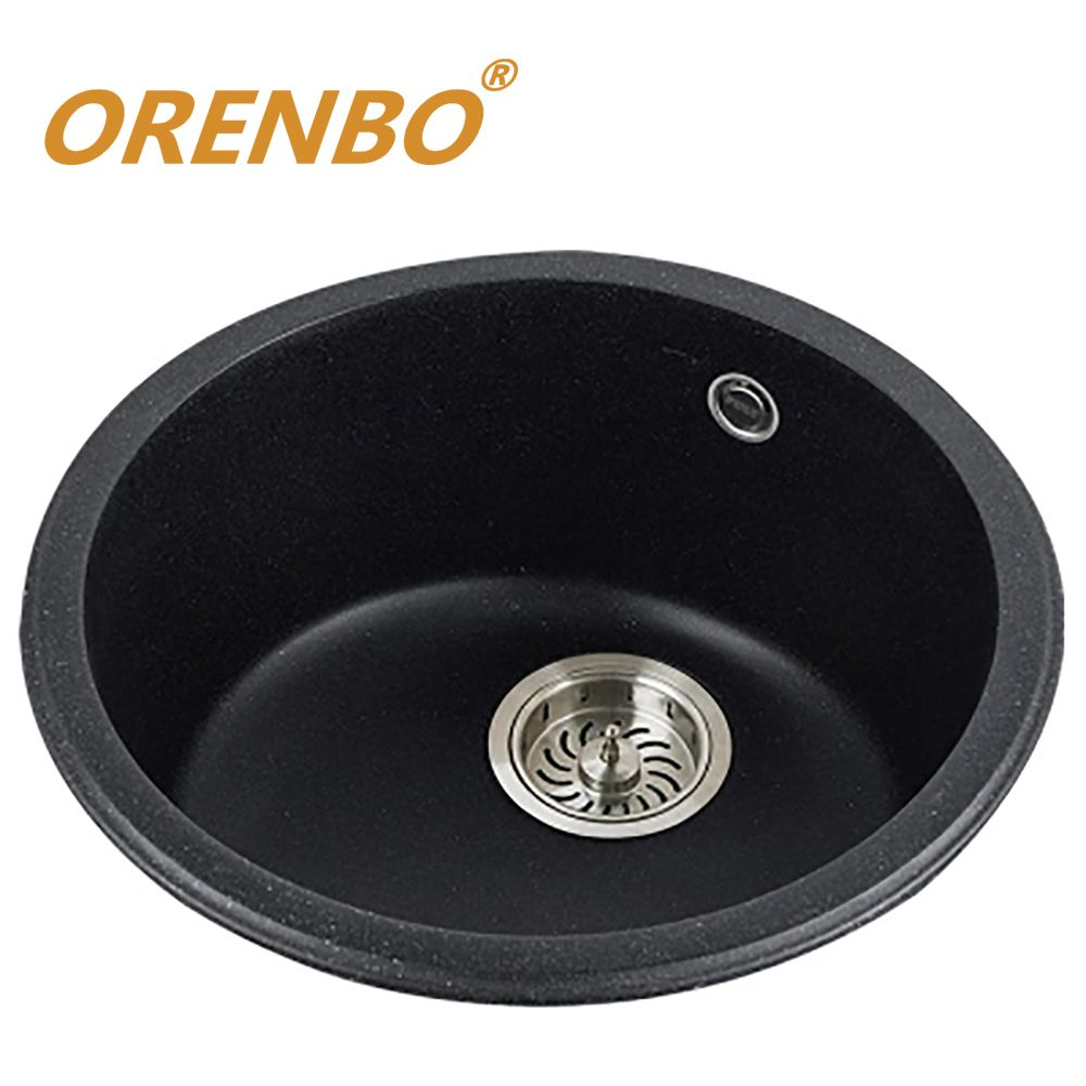 ORENBO Quarz Küchenspüle Küchenarmatur Mixer single schüssel gemüse/obst waschen waschbecken