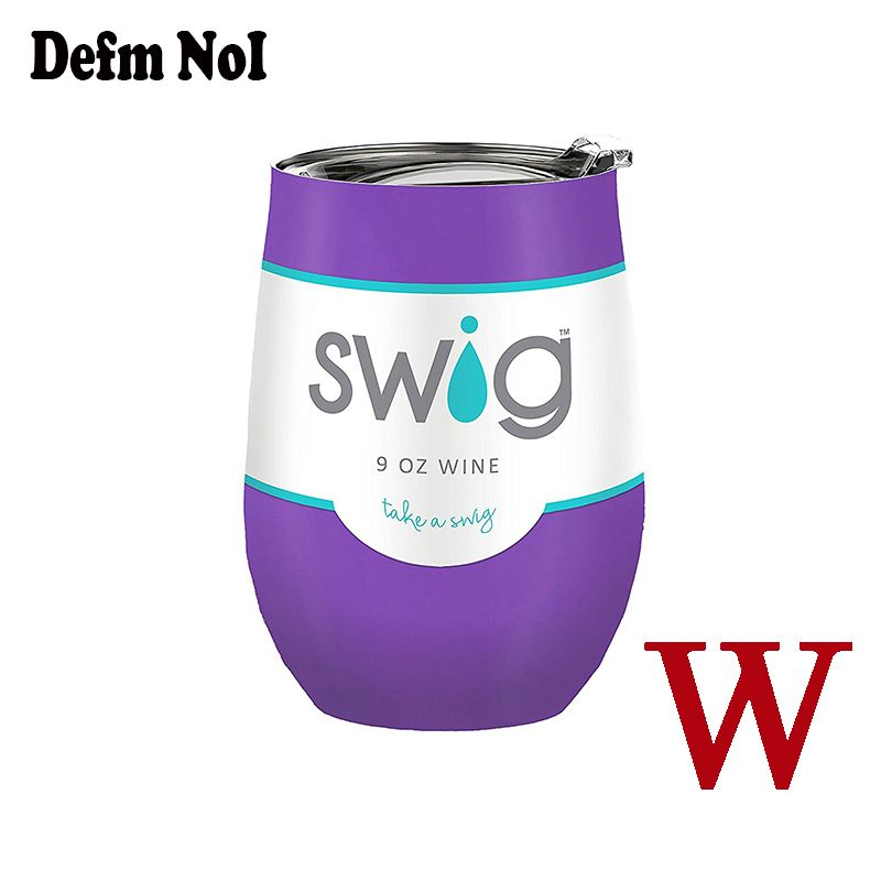 Wine Beer Cup NWT Swig Mugs 304 Stainless Steel 9 Oz Coral Wine  W/ Lid No Sweat Cold 24 Hours take a Swig 24 colors
