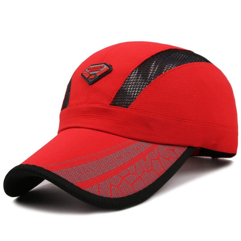 À séchage rapide d'été casquettes de baseball avec brillant tissu Chapeau pour hommes femmes casual automne chapeau