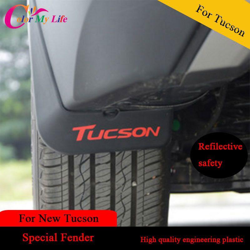 Garde-boue extérieur de garde-boue de voiture d'abs de 4 pièces/ensemble pour les garde-boue de Protection de boue d'éclaboussure de Tucson 2015 pour Hyundai pour Tucson 2016