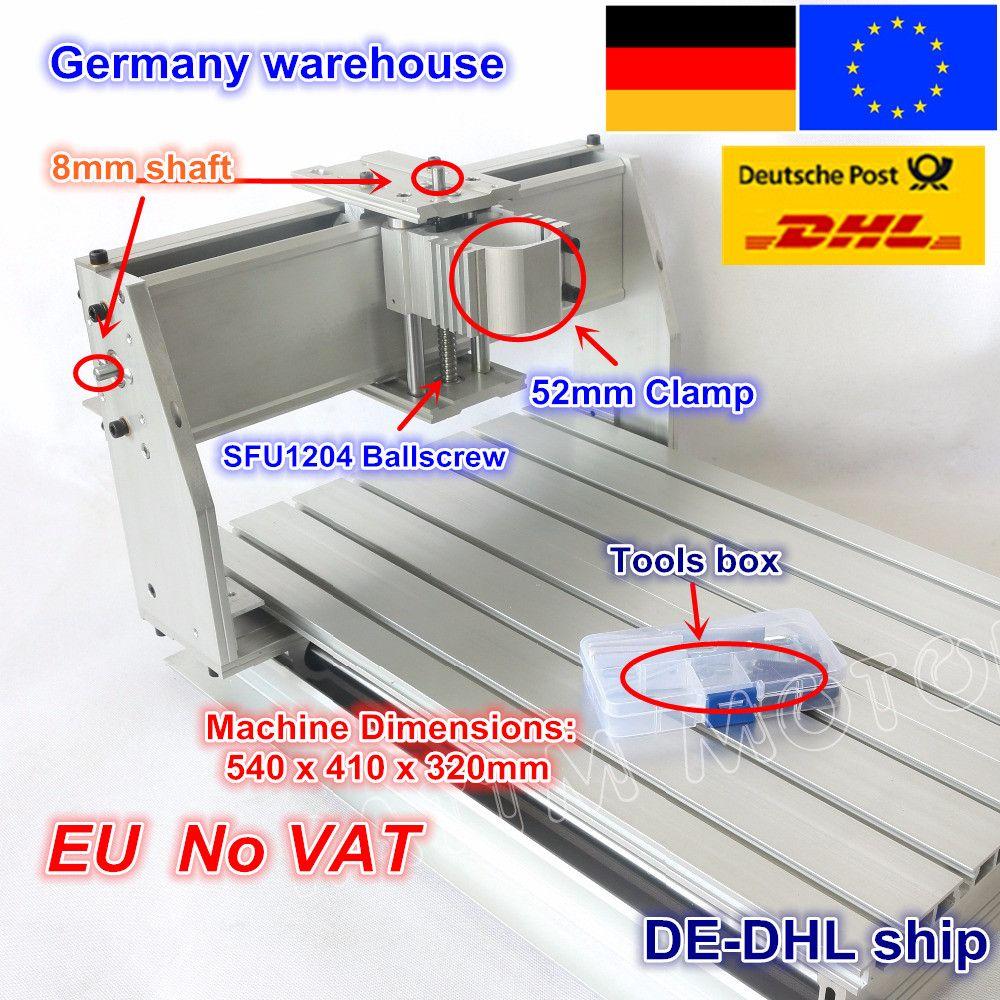 Von DE/freies MEHRWERTSTEUER 3040 CNC router fräsen maschine mechanische ball schraube kit CNC aluminium legierung Rahmen für DIY benutzer