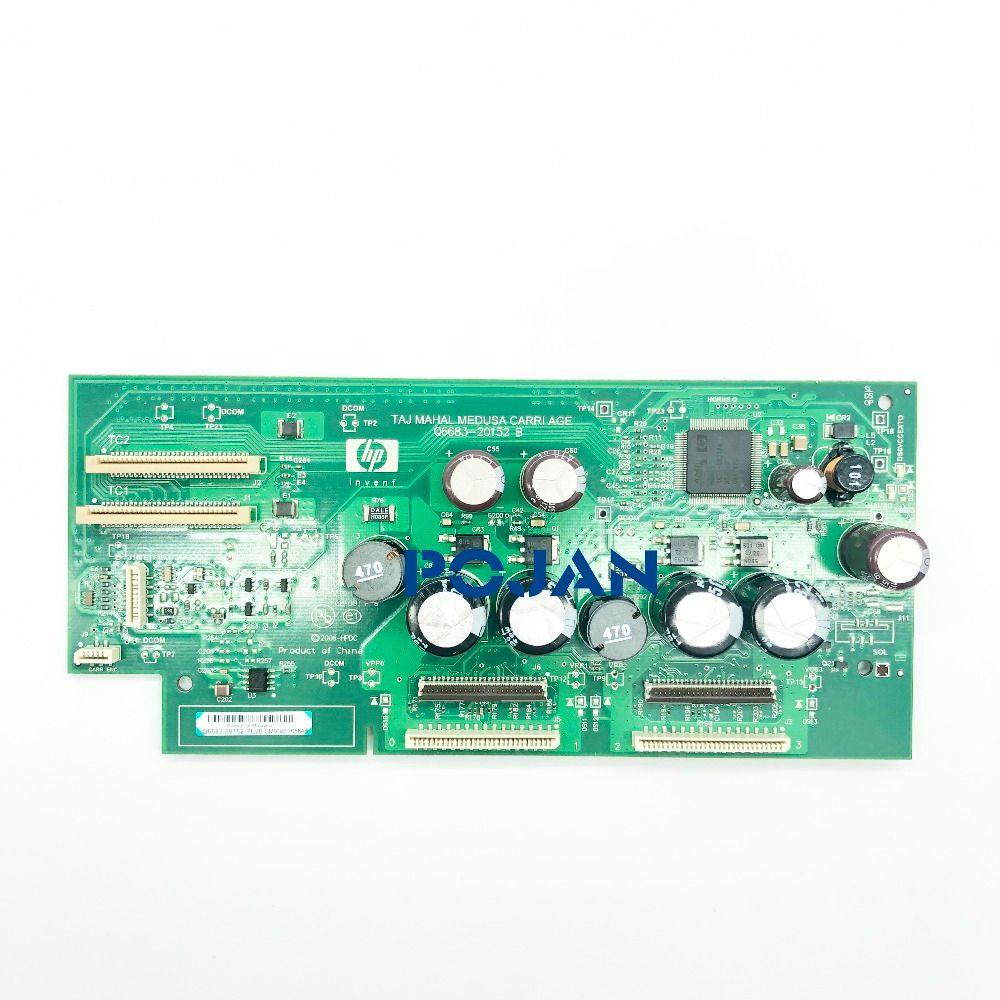 Carriage PCA board CQ6683-67032 Q6687-67012 for Designjet T610 T1100 T1100PS Printhead board ink plotter printer parts POJAN