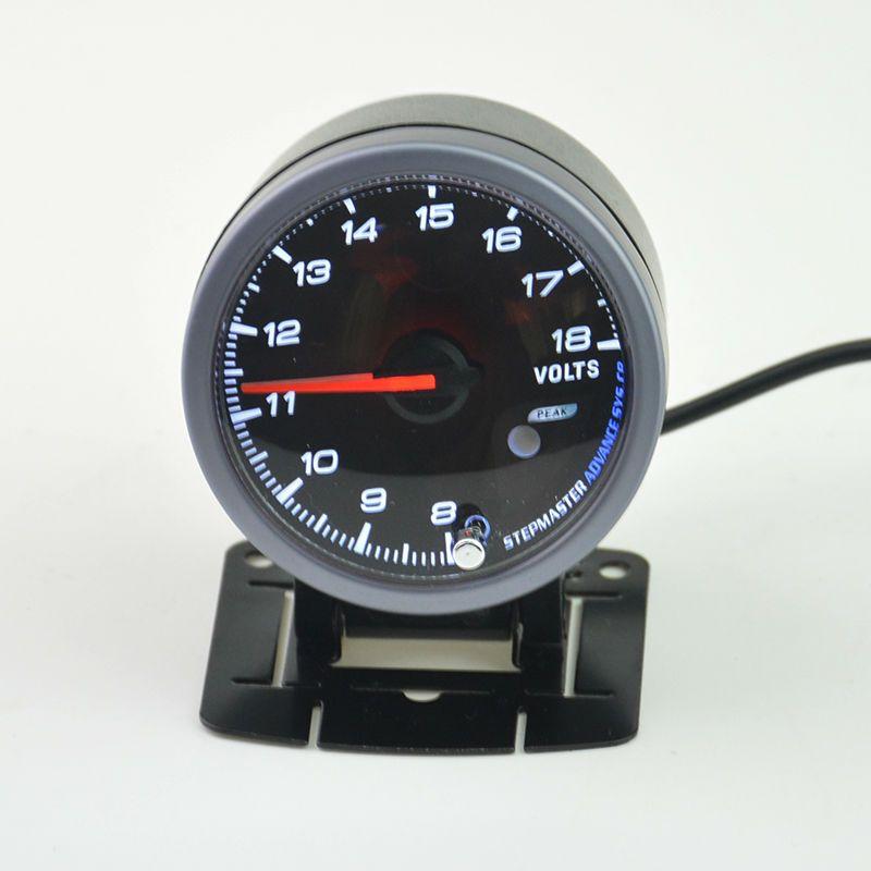 60 mm Stepper motor self-test function Auto volt gauge auto gauge  technology warning Car Voltage meter Free shipping