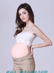 2 ~ 4 bulan 1st Trimester silikon perut buatan palsu perut hamil untuk kehamilan palsu hot sale