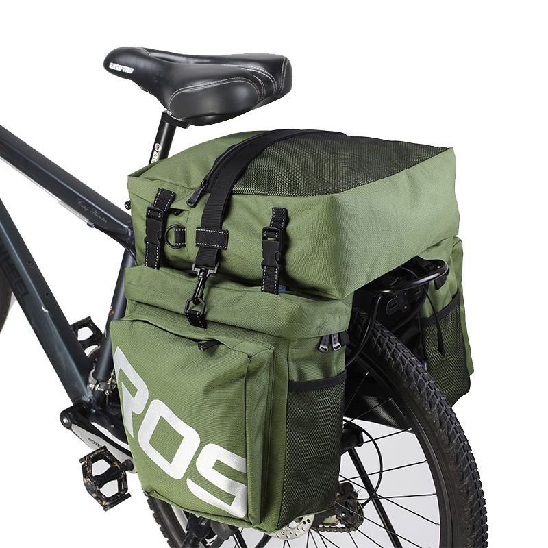 ROSWHEEL 14892 Mountain Road Bicycle Bike 3 in 1 Trunk Bags Cycling Double Side Rear Rack <font><b>Tail</b></font> Seat Pannier Pack Luggage Carrier