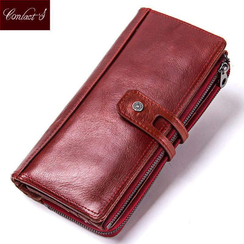 Hot Sale 2018 Wallet Brand Genuine Leather Women Wallets Female Card Holder Long Lady Clutch Carteira Feminina Coin Purse