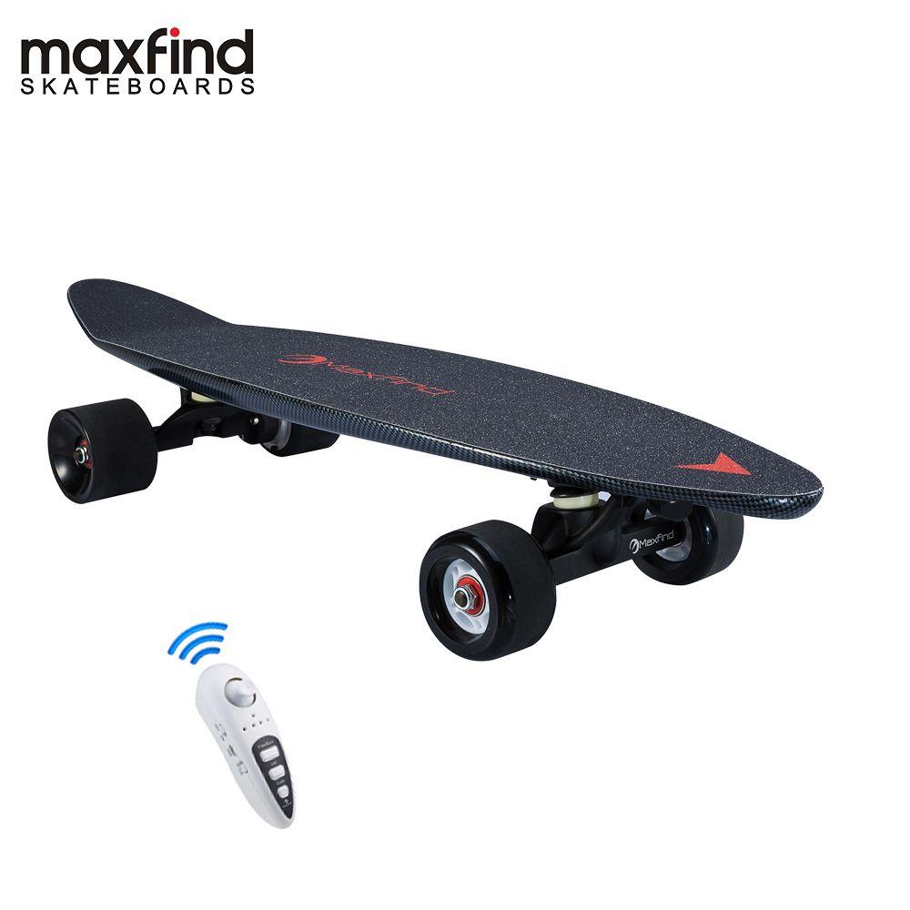 Maxfind 3,7 kg meisten tragbaren hub motor fernbedienung elektrische skateboard mit Samsung batterie innen mini skateboard