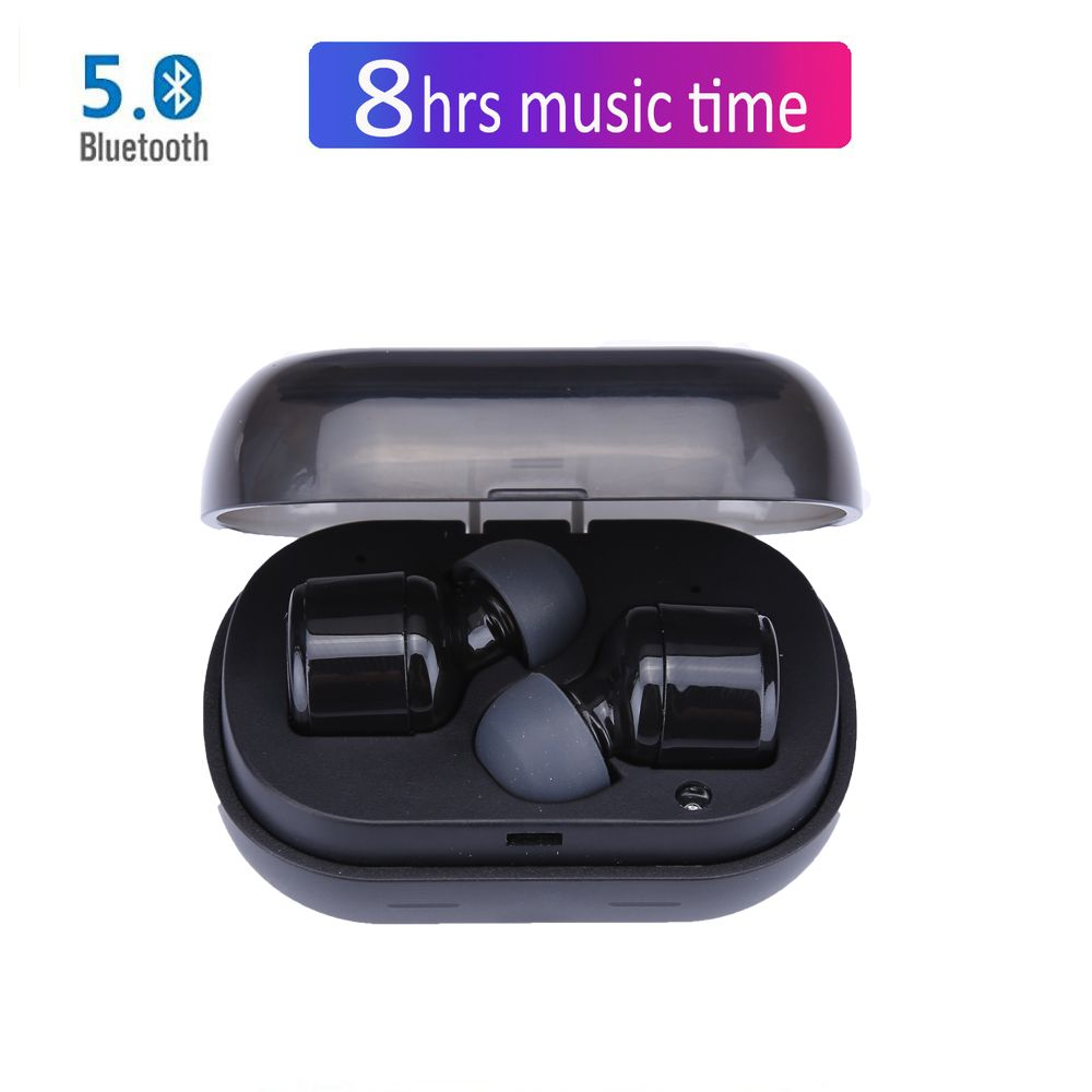 NVAHVA Mini TWS Bluetooth V5.0 Eearphones Tap Wireless Earbuds Bluetooth Headsets With 8 Hrs Music Call For Phones PC TV Sports