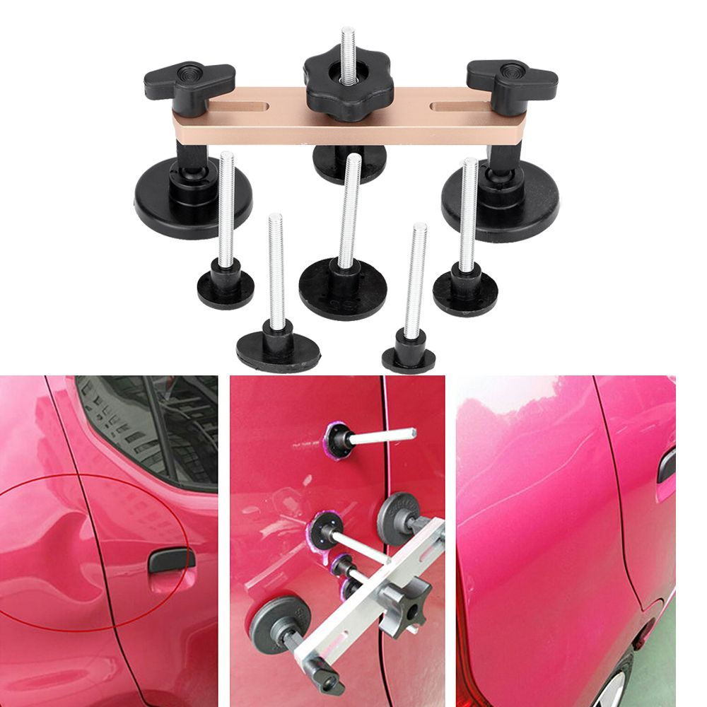 Car Body Repair Kit Auto Bodywork Paintless Dent Ding Hail Removal Tool Puller Body Dent & Ding Bridge Puller