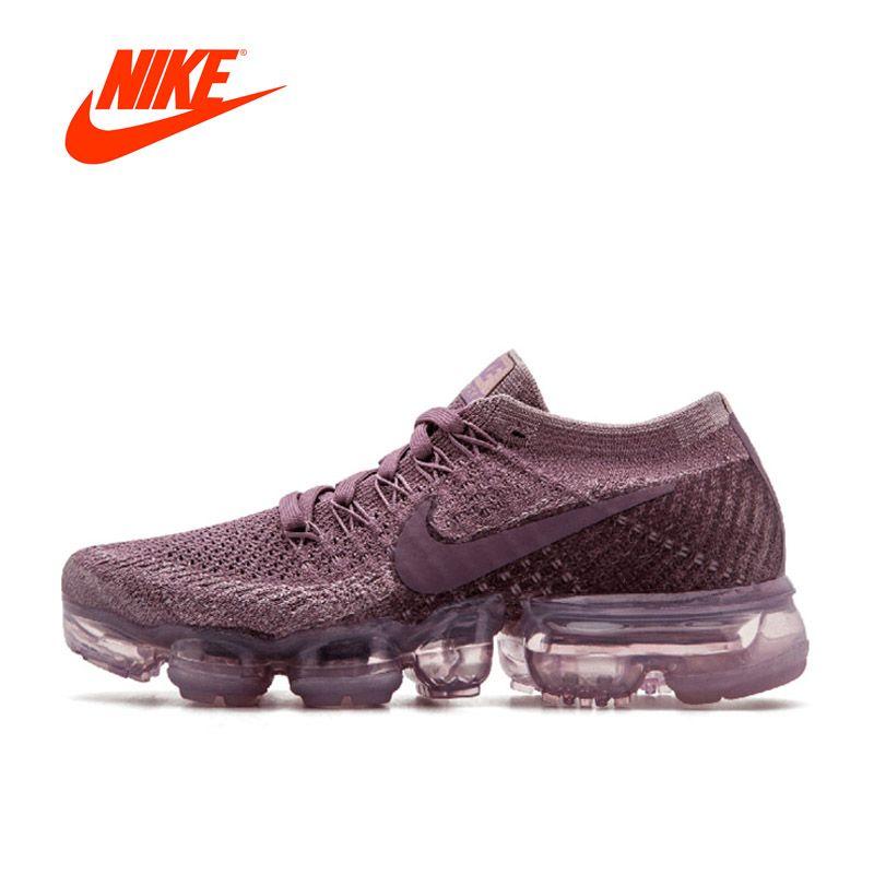 Intersport оригинальный Новое поступление Официальный Nike Air vapormax Flyknit Для женщин дышащая Кроссовки спортивные Спортивная обувь Теннис Обувь