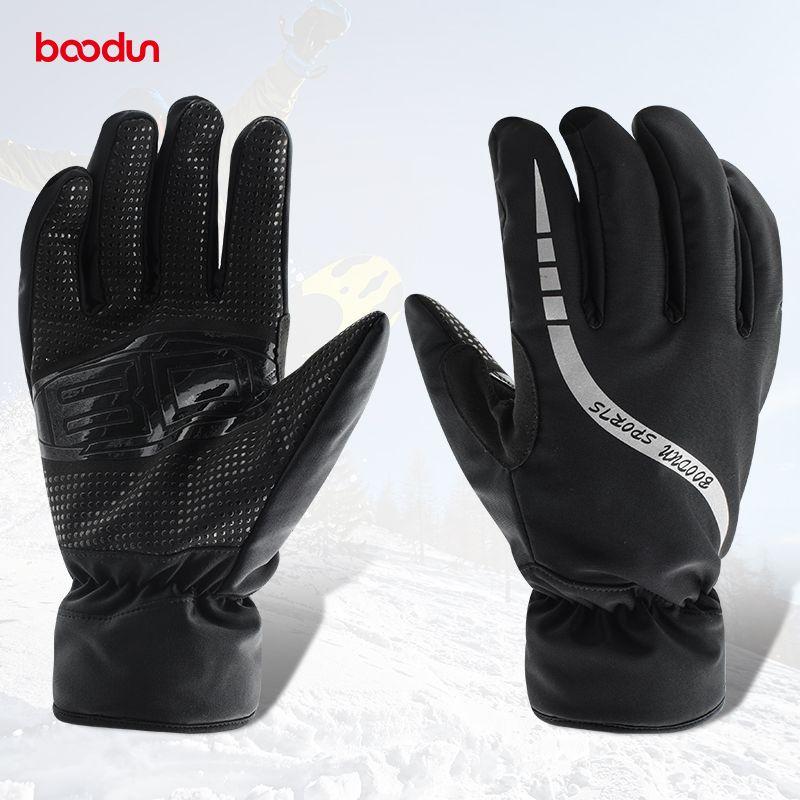 Wasserdichte Thermische Frauen Mann Winter Ski Handschuhe Snowboard Snowmobile Motorrad Radfahren Outdoor Sports Handschuhe für Mann oder Woven