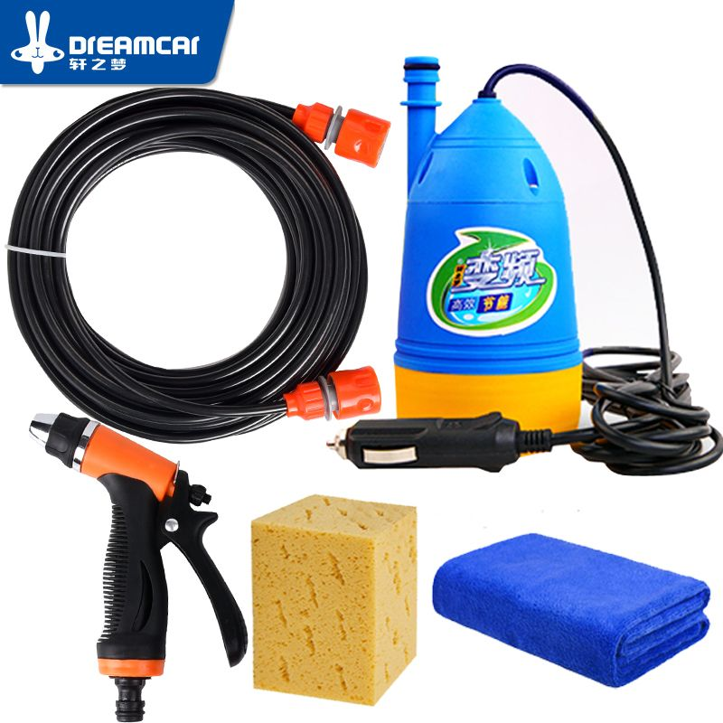 High pressure 12v washing machine car portable car wash device 220v household washing pump car <font><b>tools</b></font> water gun car washer high