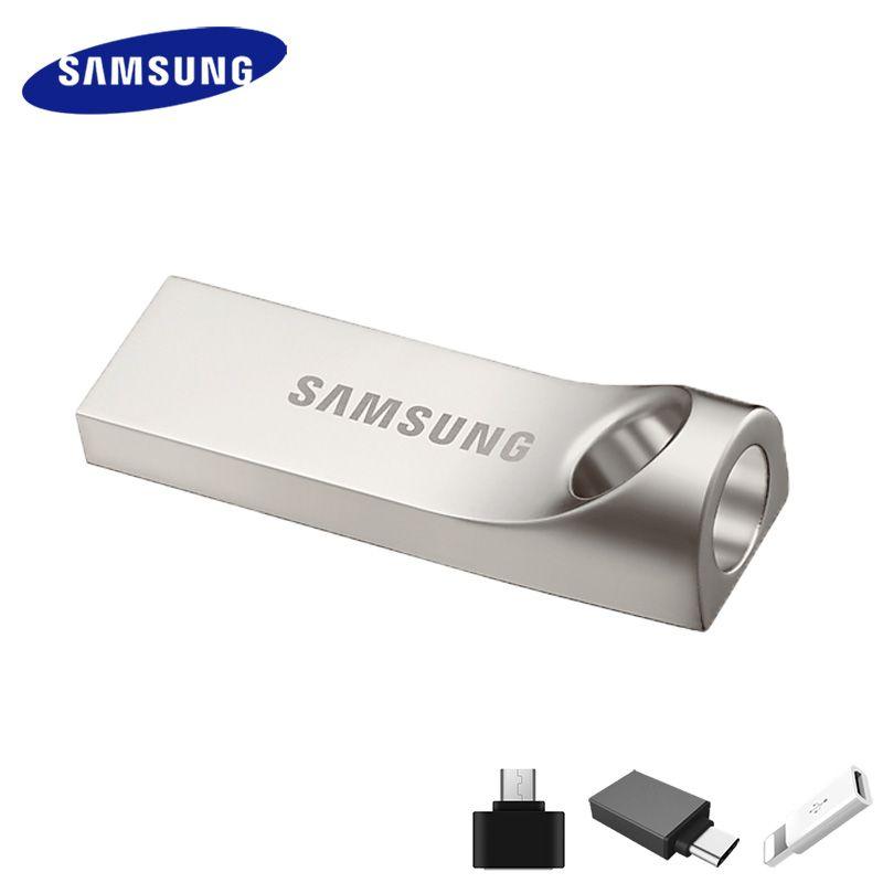 SAMSUNG USB Flash Drive Disque 32g 64g 128g 256 gb USB 3.0 ou 3.1 Métal Mini Stylo drive Pendrive Mémoire Périphérique de Stockage de Bâton U Disque