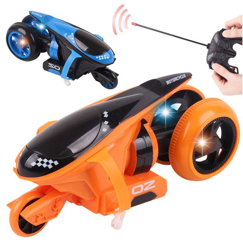 Lustige RC Motorrad Drift Räder Stunt Elektrische Motor mit Licht RC Motorrad Modell Electricl Motor Spielzeug für Kinder Geschenke
