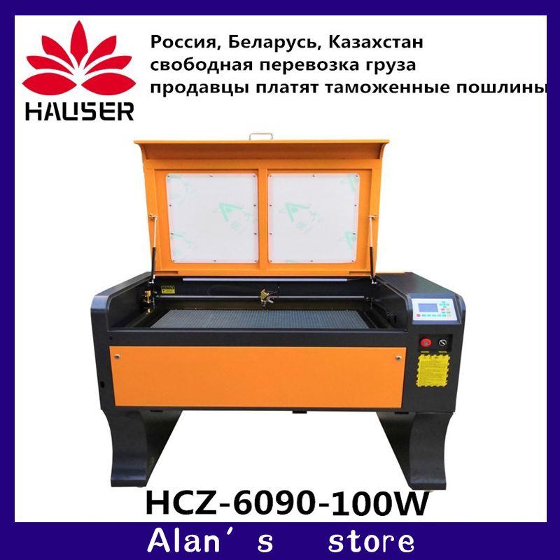HCZ 9060 co2 laser engraving Ruida 100w 6090 laser engraving machine 220v /110v laser cutter machine diy CNC engraving machine