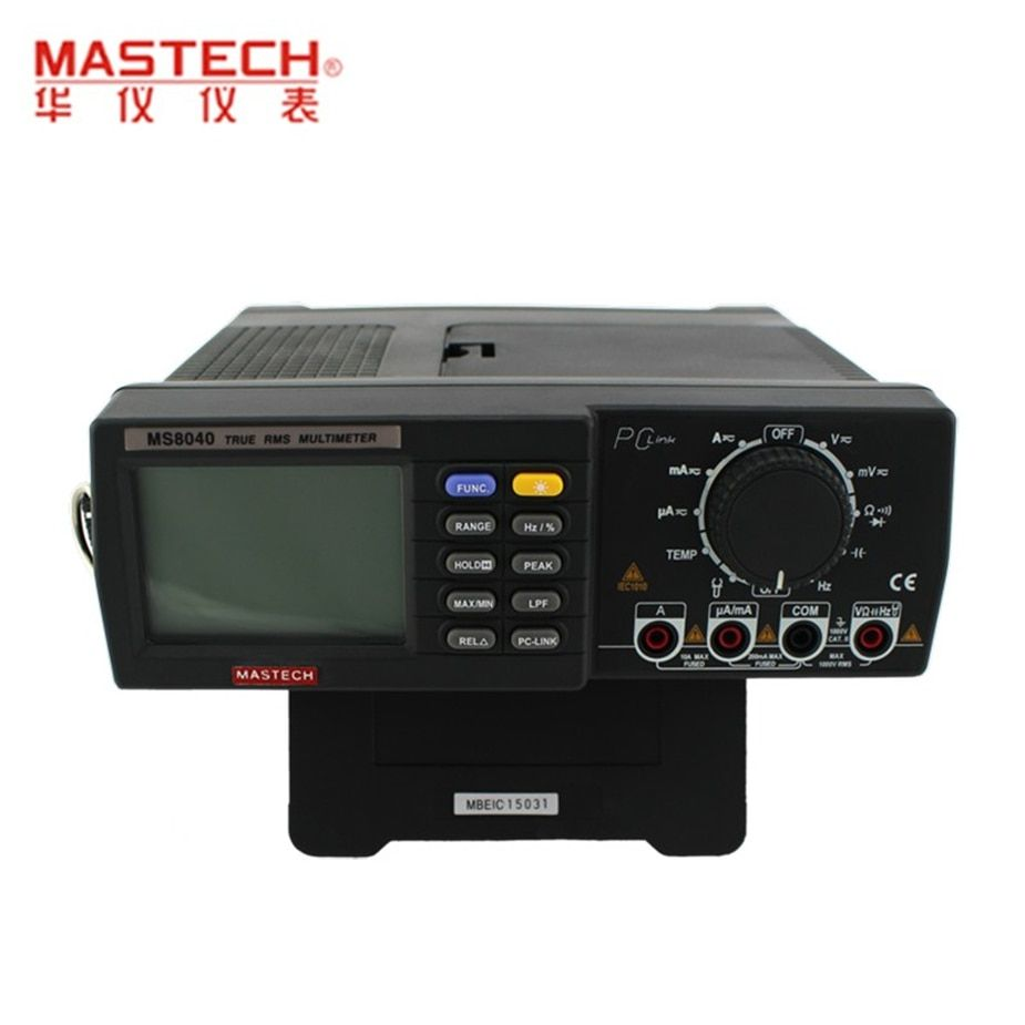 Hot MASTECH MS8040 22000 Counts AC DC Voltage Current Auto range Bench multimeter True RMS Low-pass filtering With RS-232