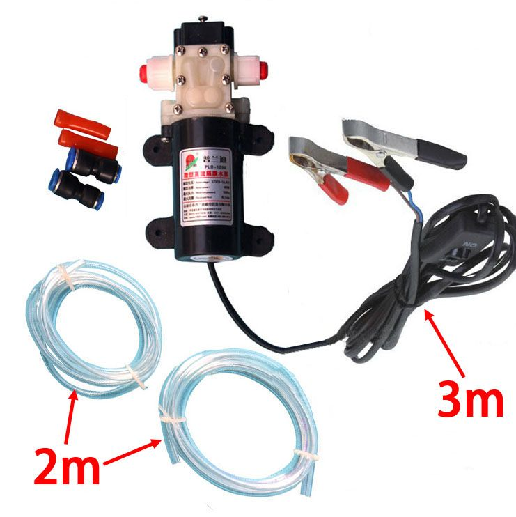 New PROFESSIONAL Crocodie Clip DC 12V Engine Oil Extractor <font><b>Change</b></font> Pump Engine oil Diesel Suction Pump Extractor Transfer Set