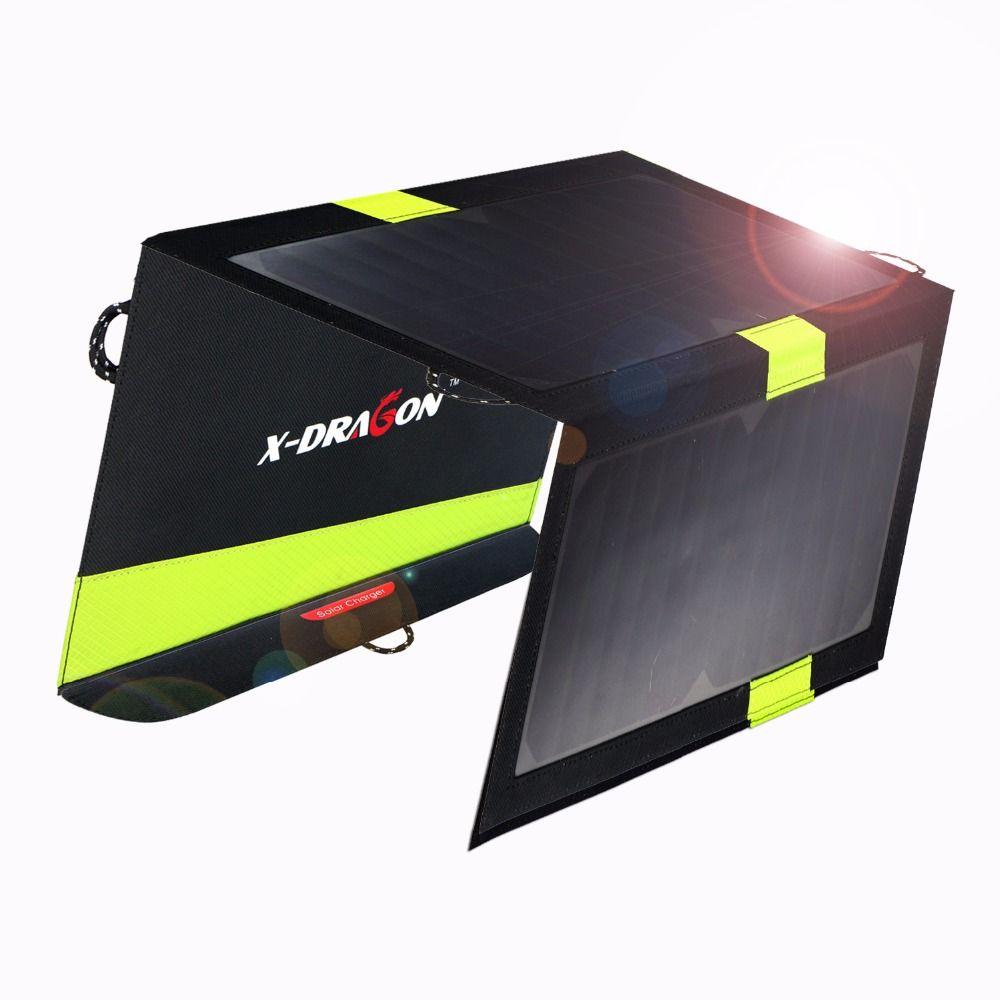 20 Watt 5 V Außen Solar Power Bank Sunpower Solarpanel Ladegerät Camping Ladegerät für Handy