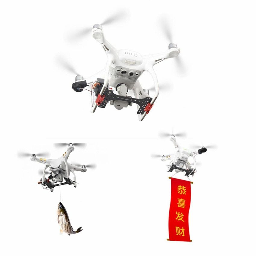 Shinkichon Pelter Fish Bait Advertising Ring Thrower for Fishing Publicity Propose for DJI Phantom 4/4P/4A