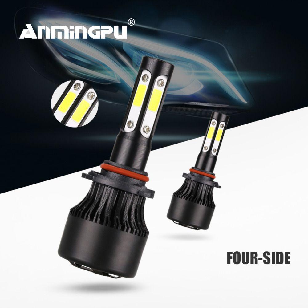 Anmingpu 2x 90W 10000LM 4 Sides 9005/HB3 Led Headlight Bulbs H7 Led H4 Hi Lo H8 H9 H11 9006/HB4 Auto Led Fog Headlamp 6500K 12V