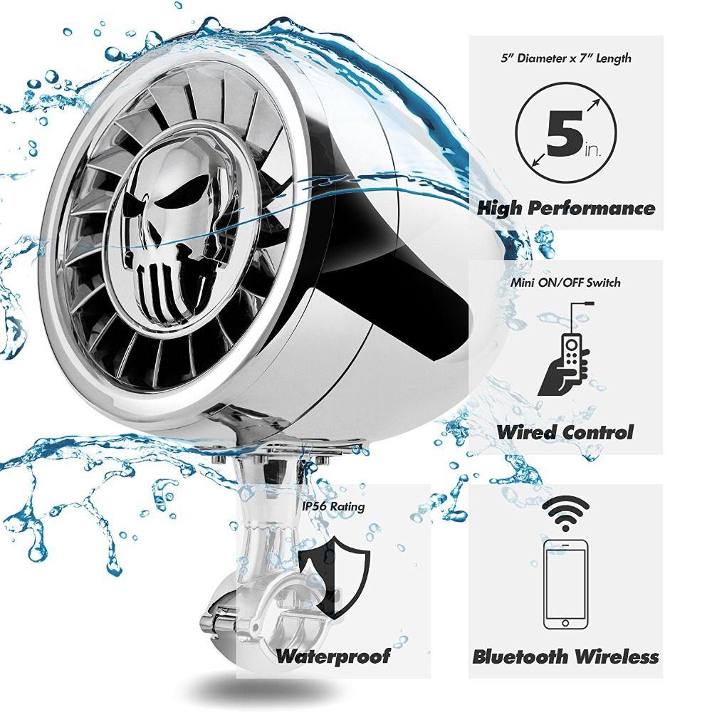 Aileap Hohe Leistung 5 Zoll Wasserdicht ATV/UTV/Harley Motor Motorrad Bluetooth Lautsprecher Schwere Bass Boat Audio System