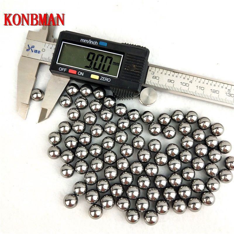 Hot 100pcs The Projectile 9mm10mm11mm Steel Balls Bow Professional Slingshot Ammo Outdoor Slingshot Bullets Used for Hunting Bow