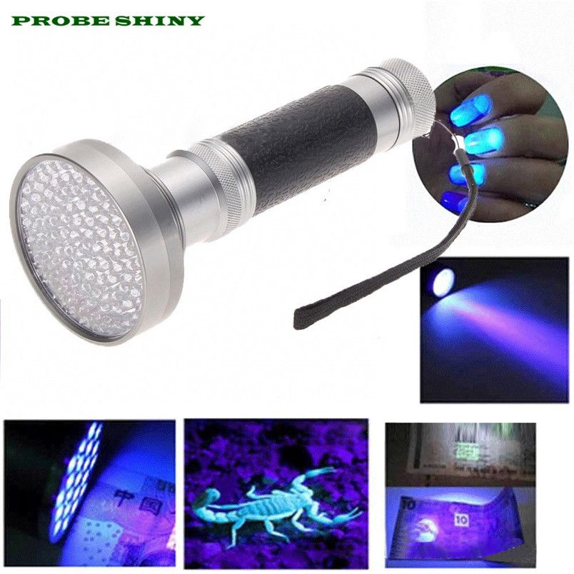 HOT!!! 100 LED UV Blacklight Scorpion Flashlight Super Bright Detection Light Outdoor Free Shipping #NN13