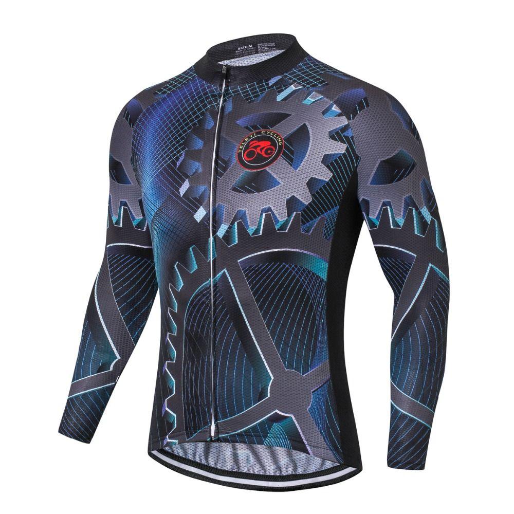 TELEYI Pro équipe équipement cyclisme à manches longues uniformes Ropa Ciclismo Jersey vtt vélo chemises vêtements de cyclisme vêtements