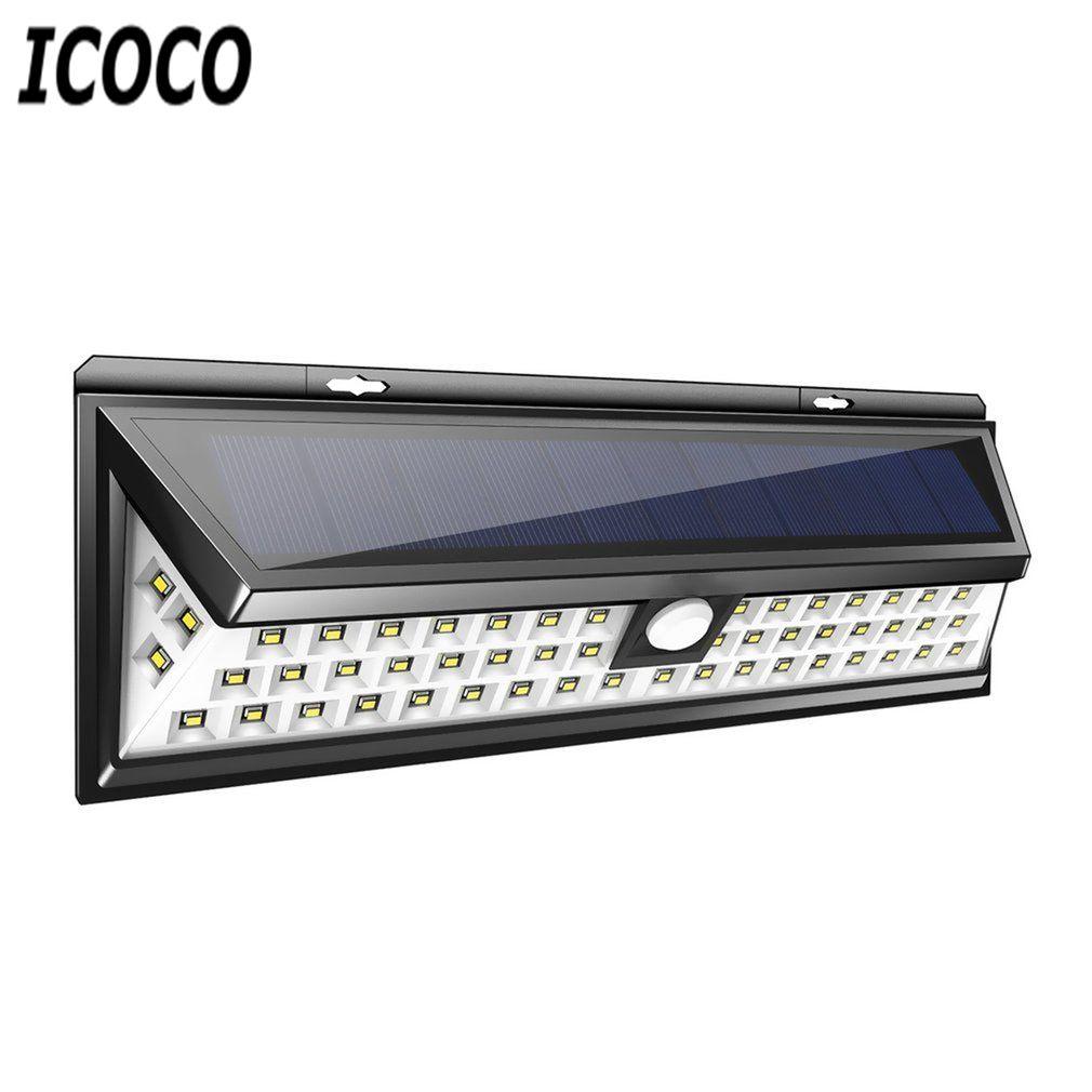 ICOCO 54 Led Solaire Capteur Étanche PIR Corps Humain Induction Motion Sensor Dimmable Mur Lumière pour L'extérieur Jardin Paysage