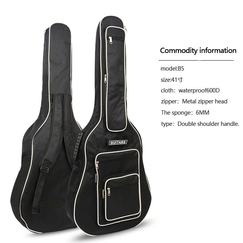 41 Inch Guitar Bag Fully Padded Waterproof Guitar Cover Case Soft Music Acoustic Classical Bag