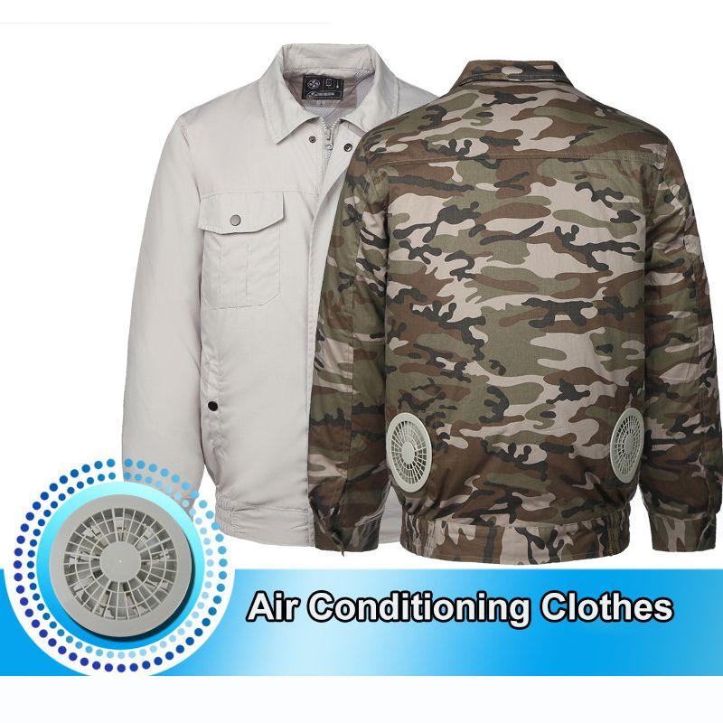 Klimaanlage Kleidung Kühlung Konditioniert Fan Jacke Für Outdoor Hohe Temperatur Kühlung Jacken Arbeits Angeln Jagd