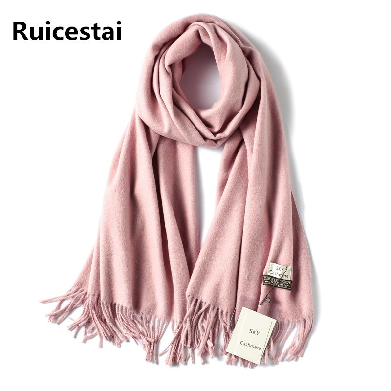 2018 brand soild winter scarf thick warm women scarves cashmere shawls and wraps quality pashmina wool echarpe for lady bandana
