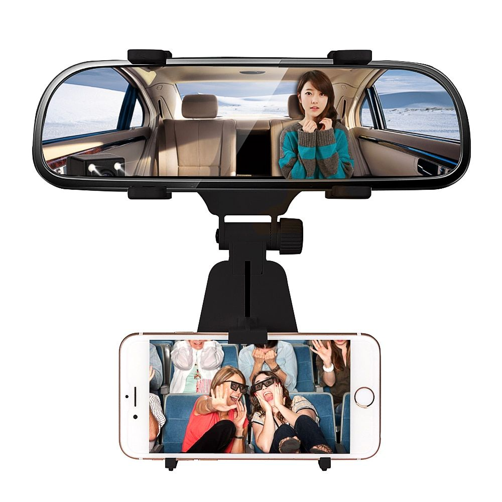Car Rearview Mirror Mount Holder Stand 360 Degree Universal Car Holder Vent Mount Dock mobile phone holder For Cell Phone GPS