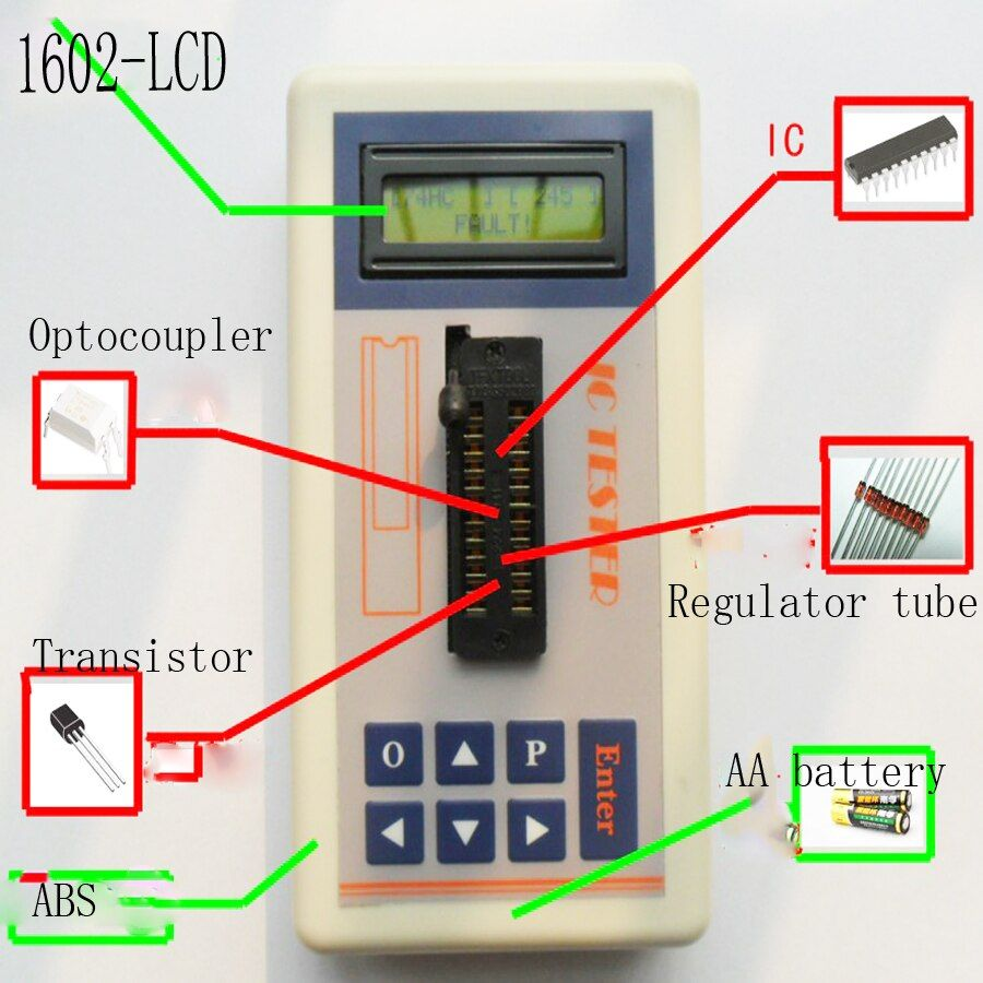Integrated Circuit IC Tester transistor tester online maintenance Digital LED transistor ic tester