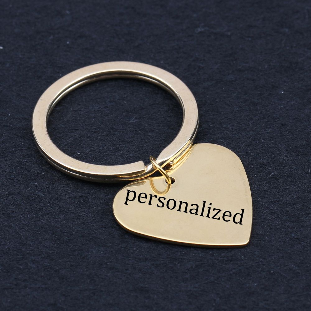 personalized keychain any language can be stamped leyring any shape can be customized
