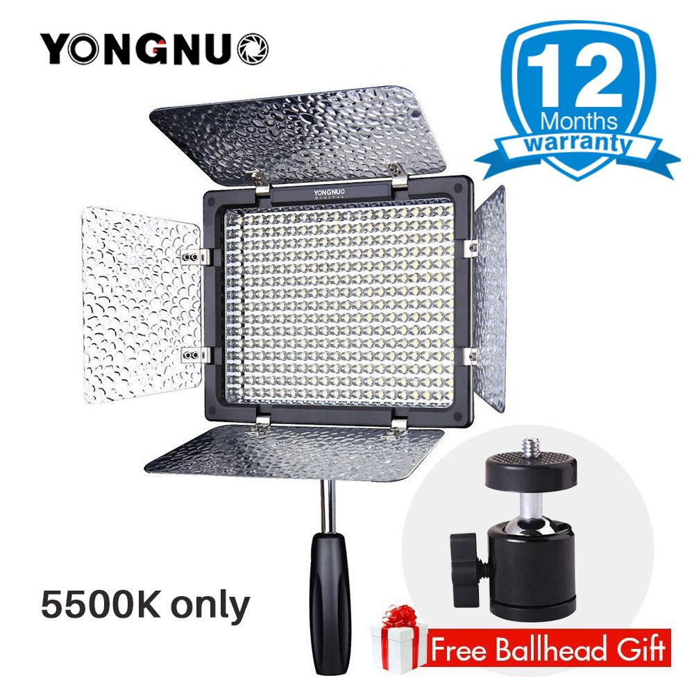 YONGNUO Official LED Photographic Lighting YN300 III YN300III 5500K Color Temperature for Canon Nikon DSLR Camera DV Camcorder