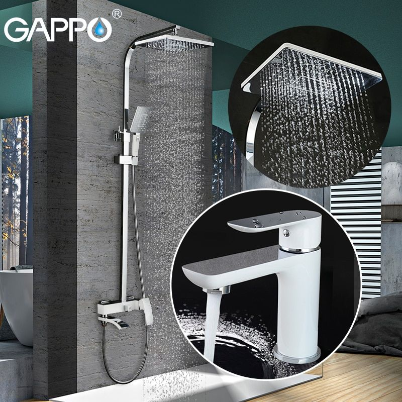 GAPPO bathroom shower faucet set bathtub faucet mixer tap waterfall wall shower head shower Basin Faucet set GA1048+GA2407-8