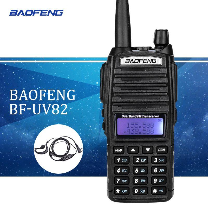 Baofeng UV82 talkie walkie uv 82 Portable Radio Avec Des Écouteurs CB Ham Radio Vhf Uhf Double bande talkie-walkie deux voies Émetteur-Récepteur