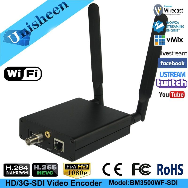 H.265 HEVC H.264 wifi SDI Video Encoder Streaming encoder SDI Transmitter live Broadcast encoder wireless H264 iptv encoder
