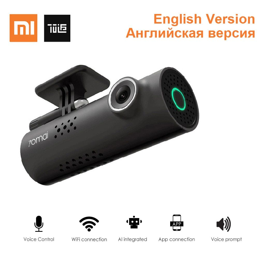 Xiaomi 70Mai Smart WiFi Car DVR 130 Degree Wireless Car Dash Cam 1080P Full HD Night Version G-Sensor Driving Recorder English