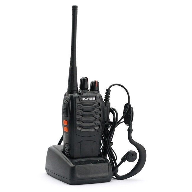 Baofeng BF-888S 16CH 5W Walkie Talkie Interphone UHF 400-470MHz Two-way Radio+earpiece -russia Moscow stock