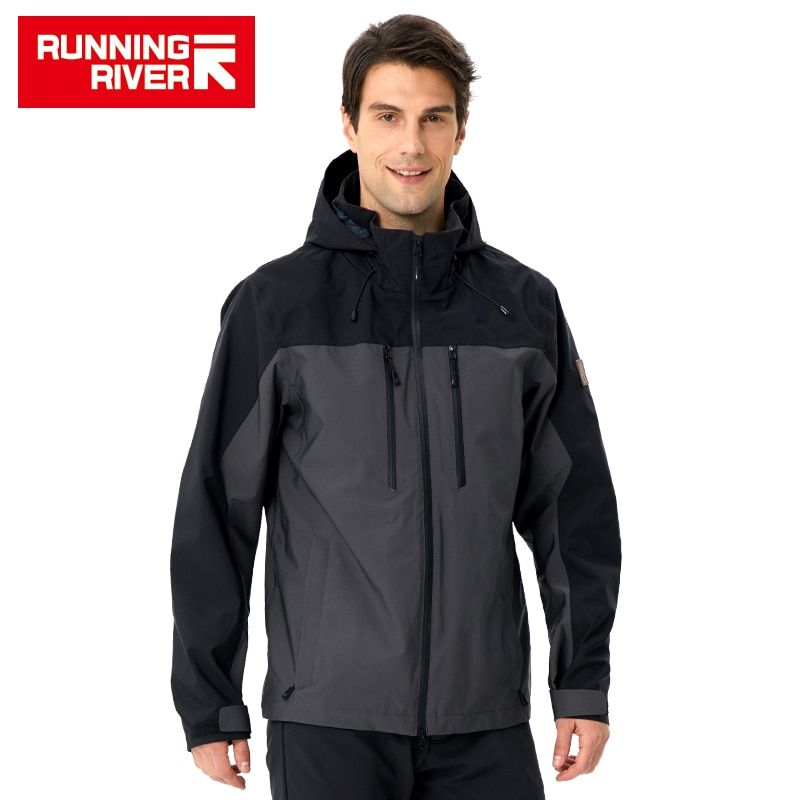 RUNNING RIVER Men Camping Hiking Jacket 4 Colors Size 46 - 56 High Quality Clothes Outdoor windbreaker Windproof coat #K8369