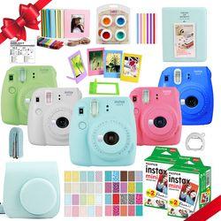 Fujifilm Instax Mini 9 Kamera + 40 Aufnahmen Mini 8 Instant Weiß Film Foto Papier + PU Tragen Tasche + album + Close up Objektiv + Geschenk Set