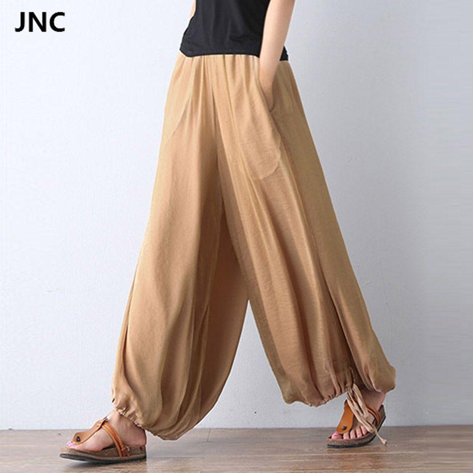 2017 New Women Yoga pants Jumpsuit Harem Pants Solid Color Bohemia Wide Leg Yoga Pants for Women