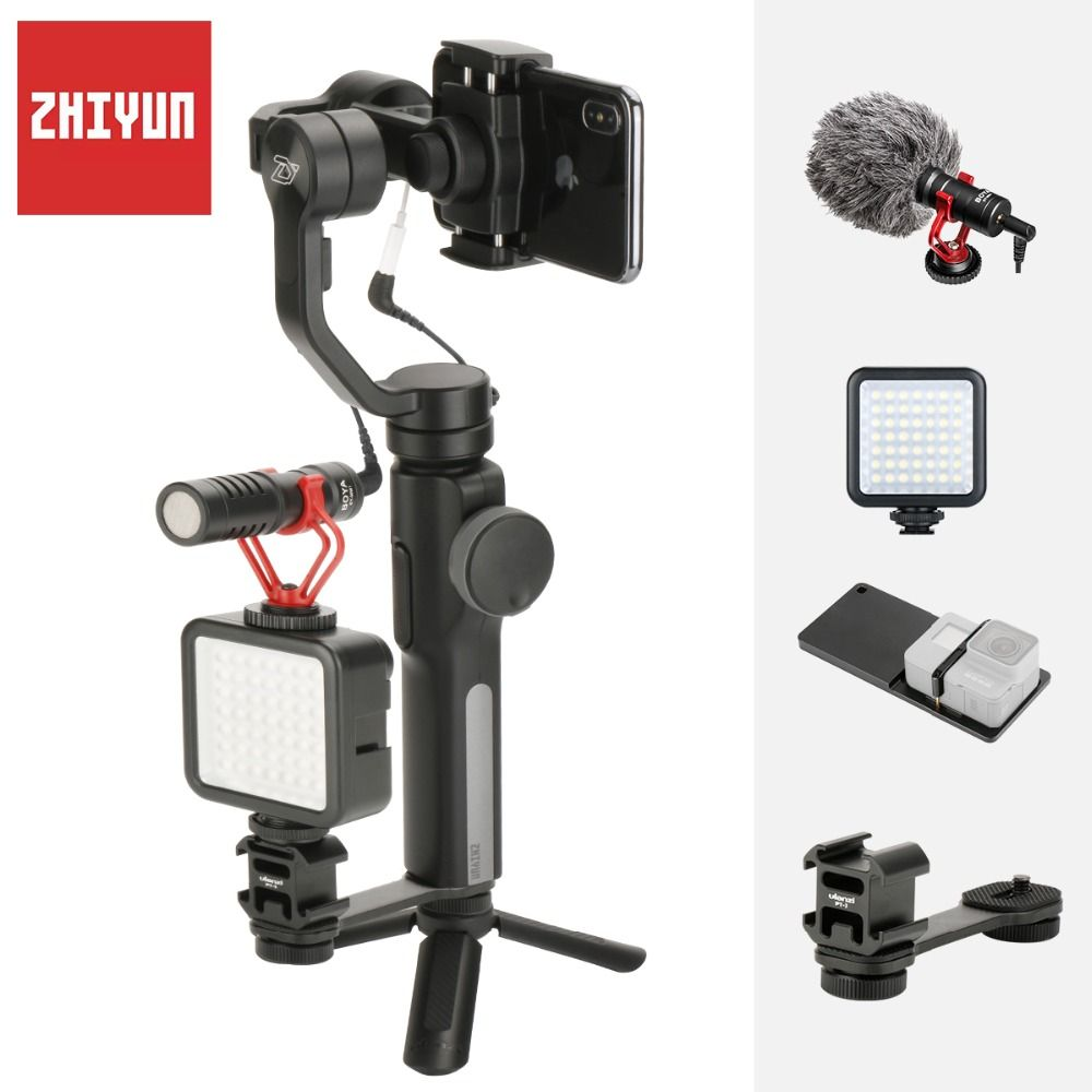 Zhiyun Smooth 4 3-Axis Gimbal for iPhone Xs Max with Counterweight  Handheld  Stabilizer for iPhone X 8 7 Plus Samsung S8 S9 S7