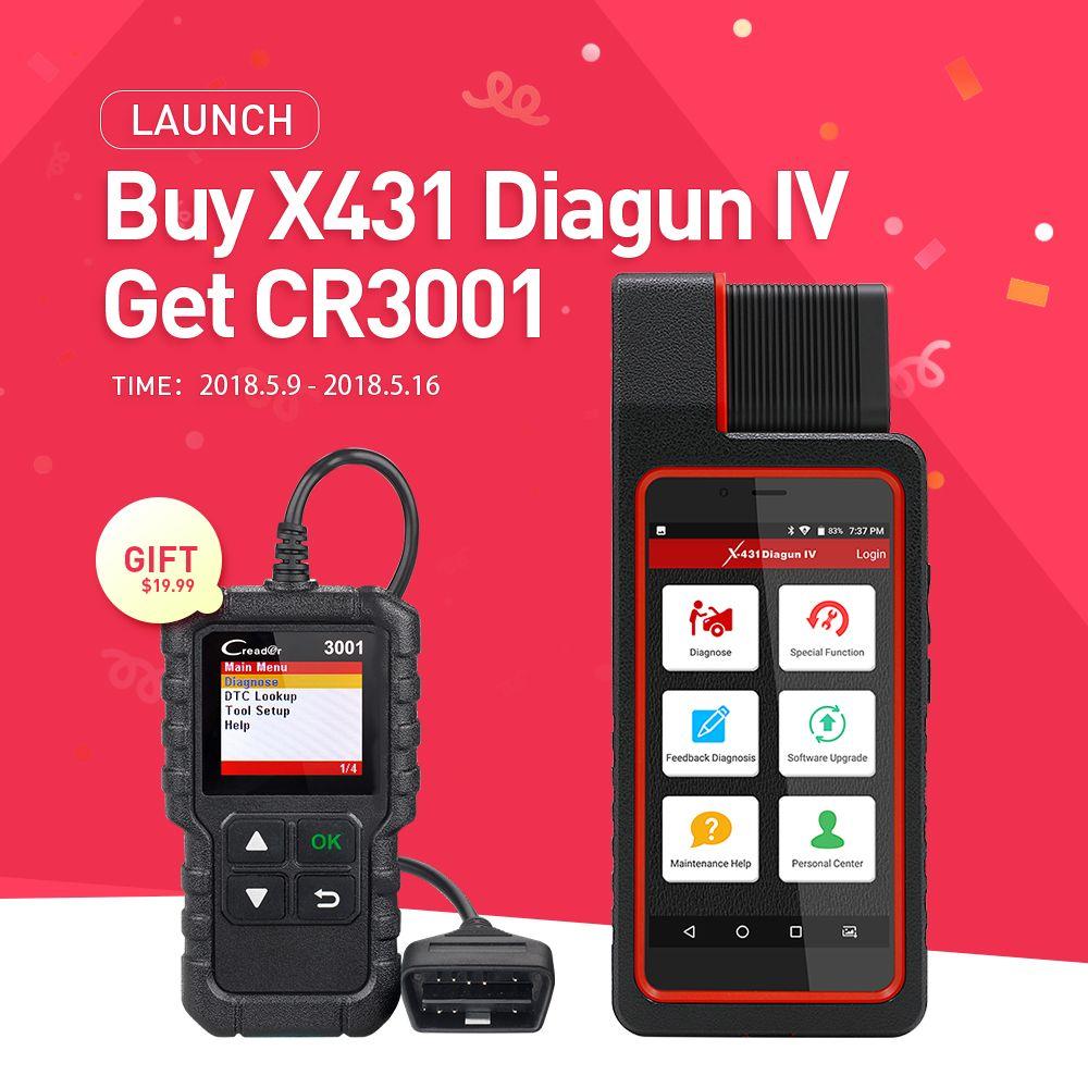 LAUNCH X431 Diagun IV Full ECU Diagnostic Tool Support Bluetooth/Wifi X-431 Diagun IV Scanner good than diagun iii/3 as X431 IV