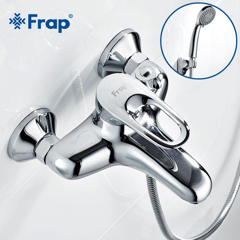 Frap Complete sets Silver Bathroom <font><b>Shower</b></font> Faucets Bathtub Faucet Mixer Tap With Hand <font><b>Shower</b></font> Sets Body Brass F3204 F3201 F3256