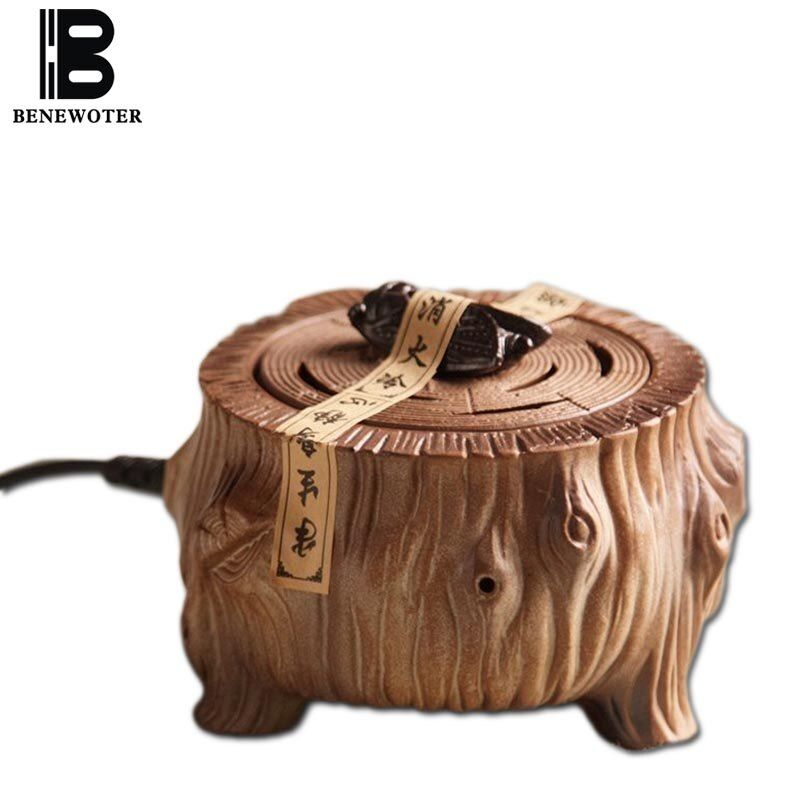 220V Chinese Vintage Electric Ceramic Perfume Diffuser Aromatherapy Burner Essential Oil Heater SPA Yoga Aroma Holder Stove Base