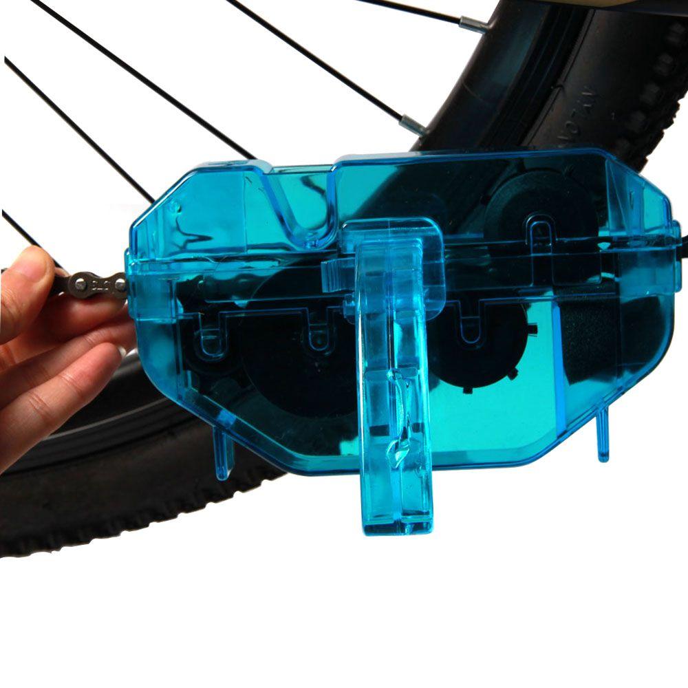 Vélo vélo chaîne nettoyeur route Machine à laver à sec lavage trousse à outils couleur bleu plastique alpiniste chaîne accessoires de nettoyage