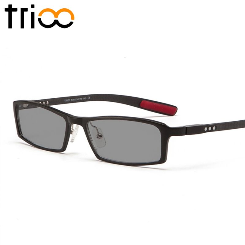 TRIOO Polarized Prescription Glasses for Nearsighted Driver UV400 Black Sunglasses with Diopters Aluminum magnesium Eyeglasses